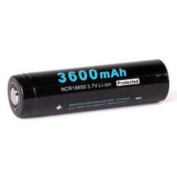 18650 Soshine 3600mAh Protected Li-Ion batteri 3,7V