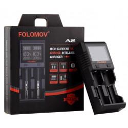 Folomov A2 26650 18650 2000 hurtigoplader