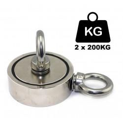 400 KG trækstyrke 2x200kg magnet fiskeri magnetfiskeri