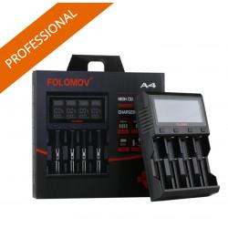 Folomov A4 batteri oplader 26650 18650